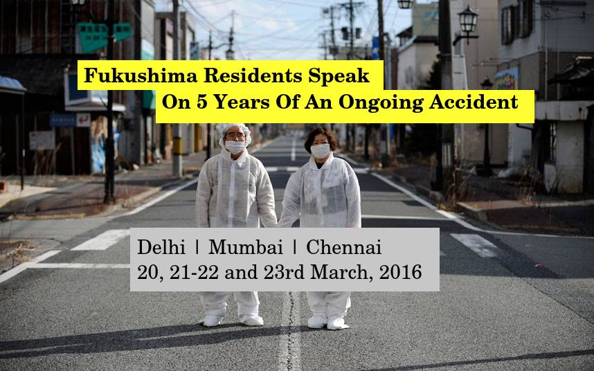 Fukushima residents in Delhi