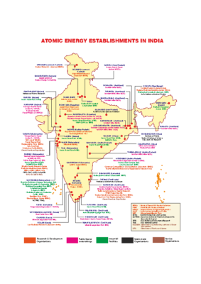 ATOMIC ENERGY ESTABLISHMENTS IN INDIA