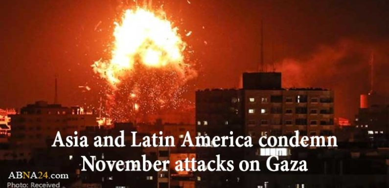 Asia and Latin America condemn November attacks on Gaza