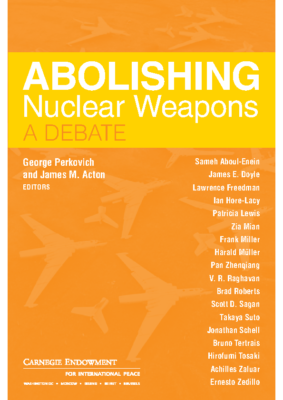 Abolishing Nuclear Weapons a debate